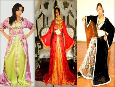 Orientale : robe marocaine de mariee ou de soiree, caftan, takchita, robes de Haute Couture.